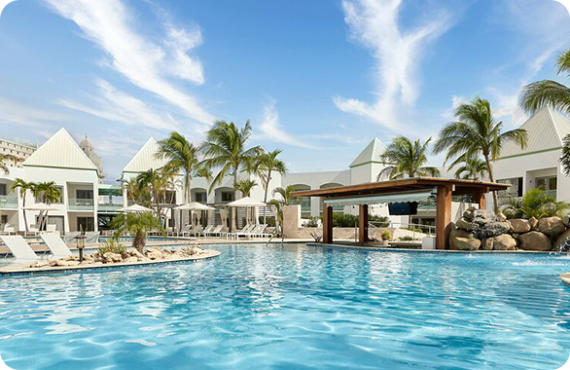 The Courtyard by Marriott Aruba Resort located at Palm Beach, Aruba.
