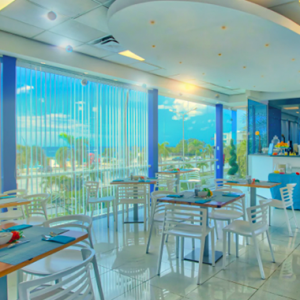 The restaurant at the Hector Suites at the John F. Kennedy Boulavard on the island of Curaçao.