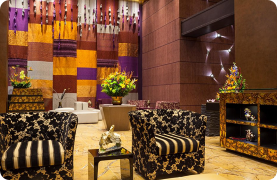 The Four Points by Sheraton hotel lobby in Bogota Colombia.