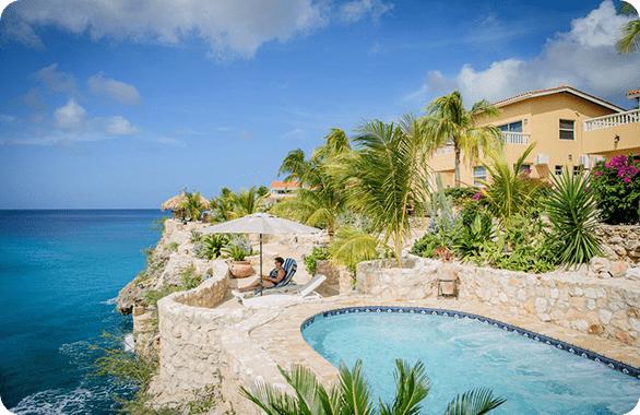 Lagun Blou Resort located in Willemstad on the island Curaçao.